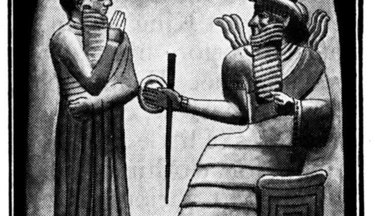 Kral Hammurabi Adalet Tanrısı Shamash