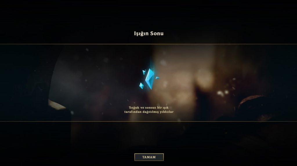 League of Legends Gizli Görev Kozmik Karanlık Lux - Mavi Öz