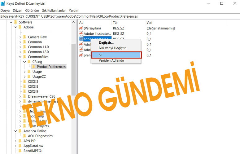 Windows Kayıt Defteri Temizlemek