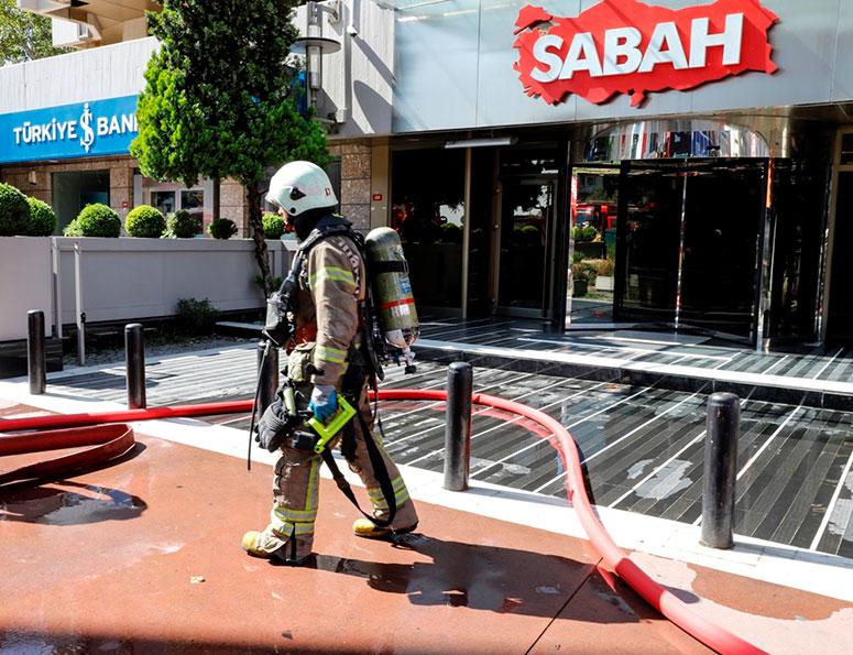 ATV Sabah Binasında Yangın