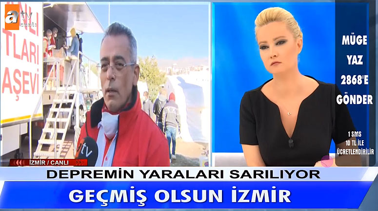 Müge Anlı Aşevi İzmir Depremi
