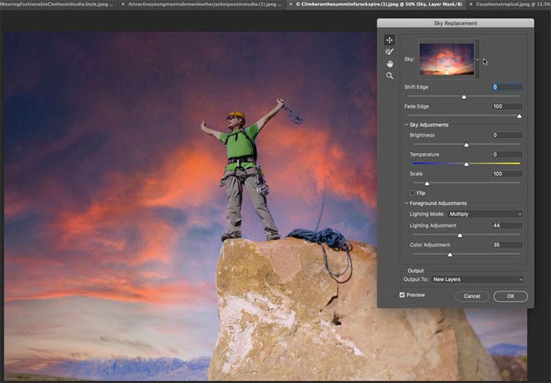 photoshop-2021-ozellikleri-gokyuzu-degistirme-filtreleri